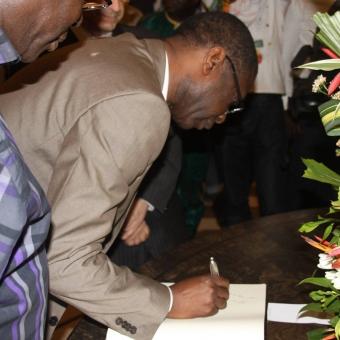 Préparation du concert à Conakry